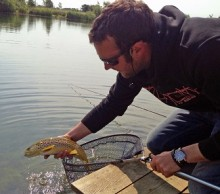 Rocklands Mere Fishery Trout release