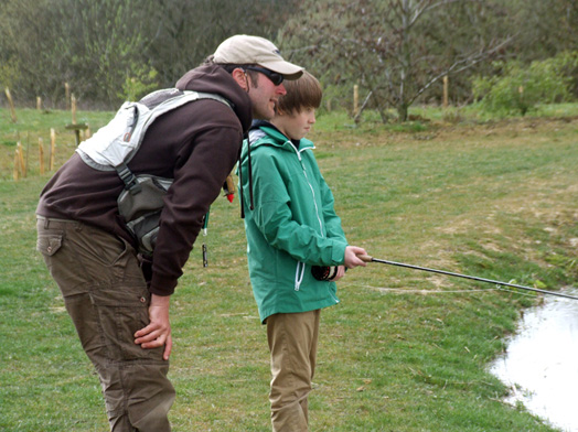Fly Fishing tuition at Rocklands Mere Fishery Norfolk