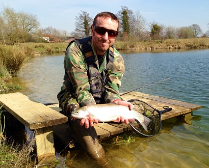 Rocklands Mere Fishery trout fishing Norfolk